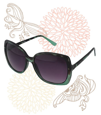 Retro green-hued sunglasses, Forever 21, $5.80