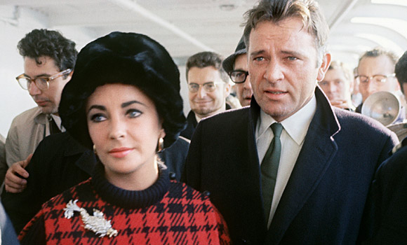 Elizabeth Taylor and husband Richard Burton