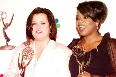 Rosie O'Donnell and Oprah Winfrey