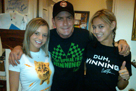 Charlie Sheen and goddesses