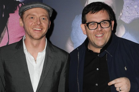 Simon Pegg and Nick Frost at the Paul premiere