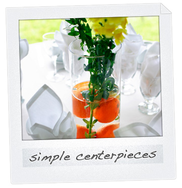 Cursive number 1 Summer wedding centerpieces Edible