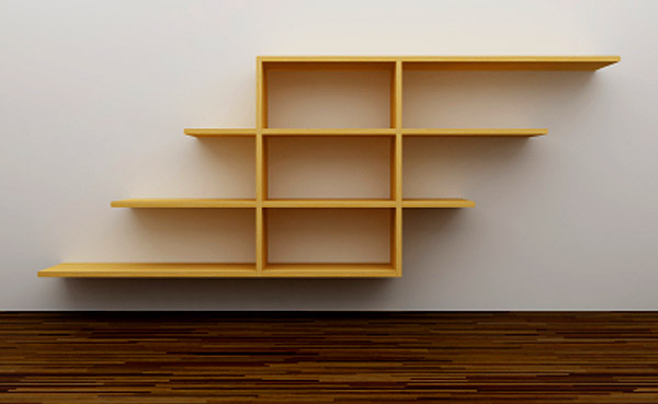 ... gives you some guidance on how to make new shelving for your home