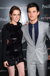 Kristen Stewart and Taylor Lautner
