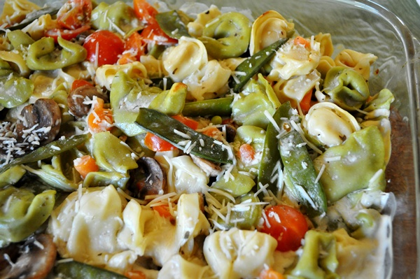 Tortellini and vegetables make a great casserole