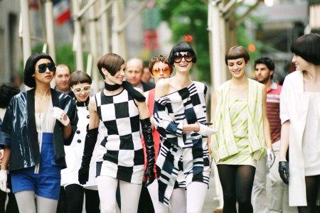 Models wearing Vidal's hairstyles from Vidal Sassoon: The Movie