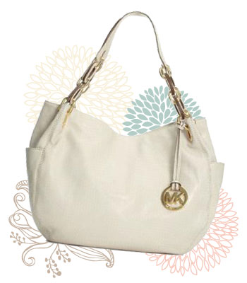 White Michael Kors handbag from Macy's, $298