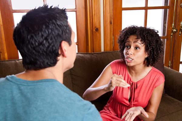 Woman nagging husband