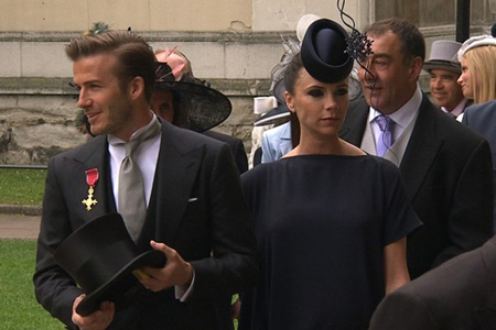 Victoria Beckham royal wedding hat
