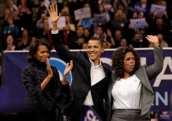 Oprah chats with Barack and Michelle