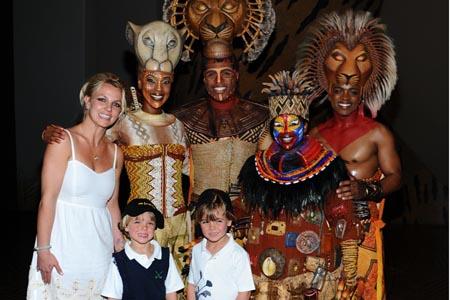 Britney & sons do Broadway in Vegas!