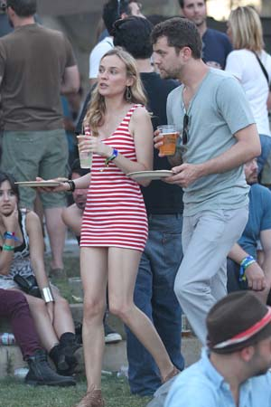 Diane Kruger and Joshua Jackson at Coachella Day 3