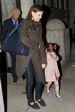 Suri Cruise and Katie Holmes in New York City