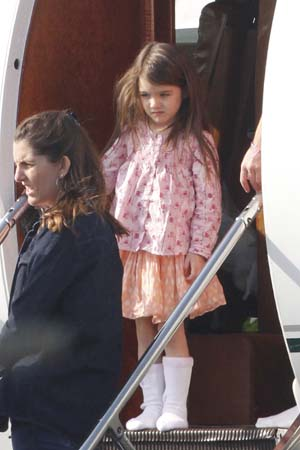 Suri Cruise on her private jet