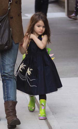 Suri Cruise in Soho