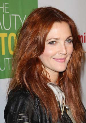 Drew Barrymore's new red haircolor