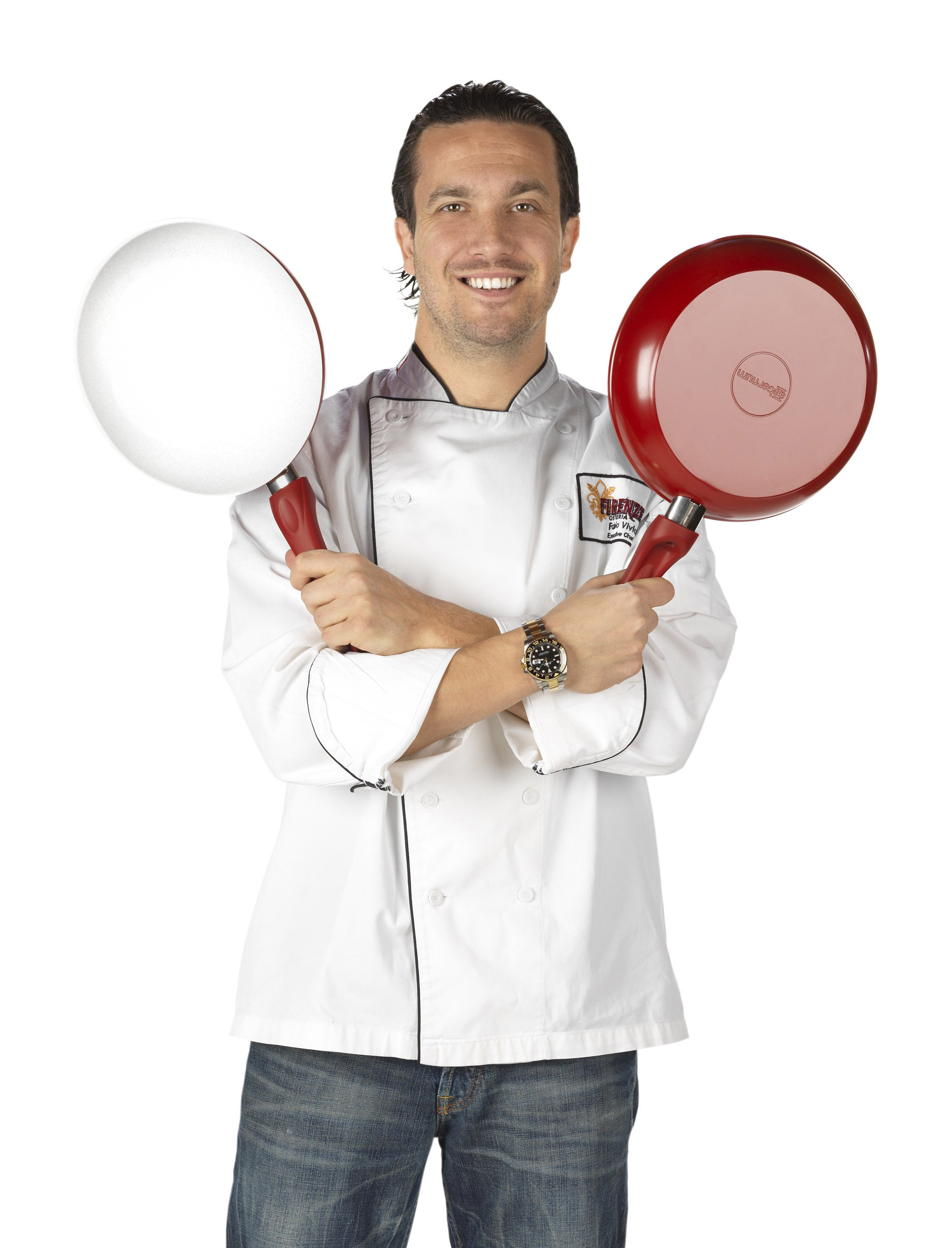 Chef Fabio Viviani with Bialetti pans