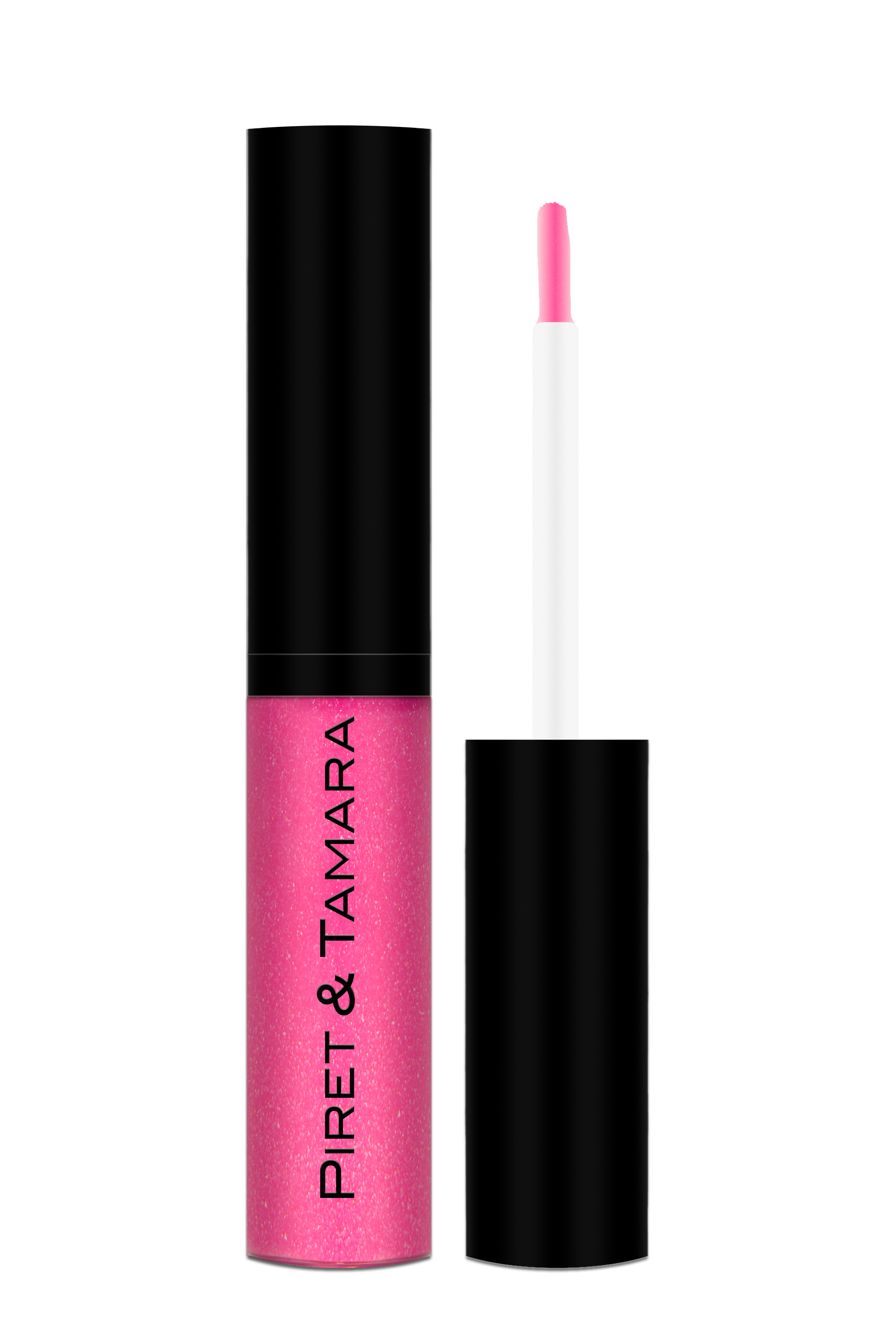Piret & Tamara pink lip gloss is perfect for the soft, natural honeymoon look