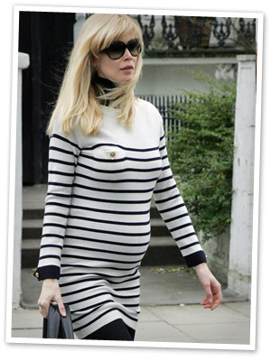 Claudia Schiffer's pregnant celebrity style