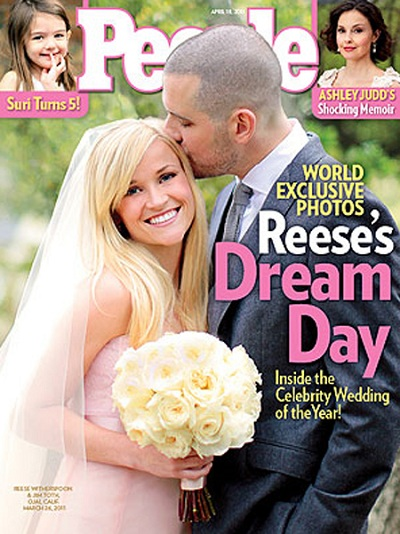 Reese Witherspoon's wedding photos drop!
