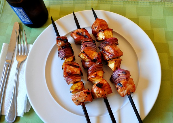 Flavored skewers infuse kabobs with delicious taste
