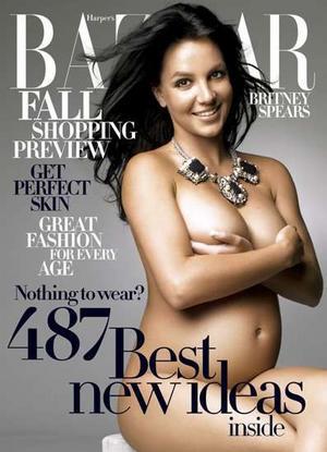 Britney Spears pregnant Harpar's Bazaar cover