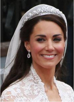Princess Catherine's wedding day makeup