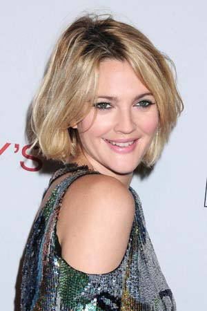 Drew Barrymore shoulder-length hair
