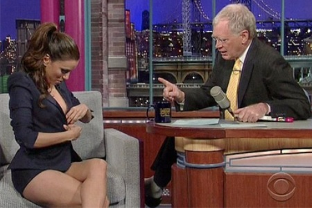 Eva Longoria visits David Letterman