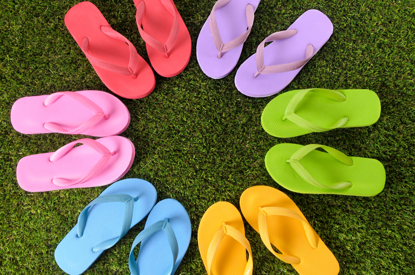 summer flip flop styles
