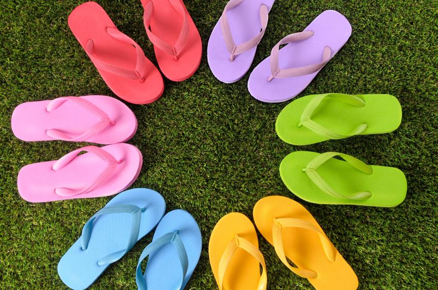 summer flip flop styles