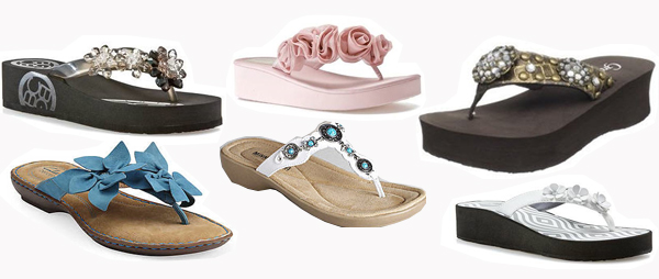 variety of sumemr flip flop styles