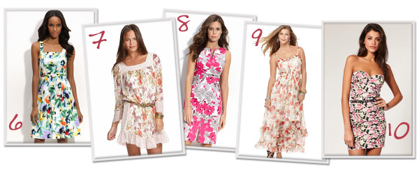 10 Ways to wear floral print dresses