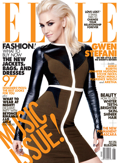 Gwen Stefani on the cover of ELLE