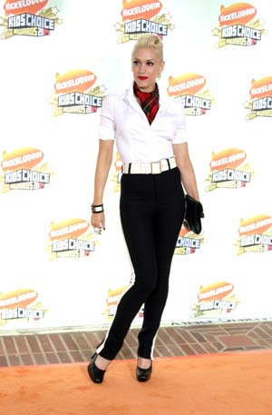 Gwen Stefani at the Kid's Choice Awards