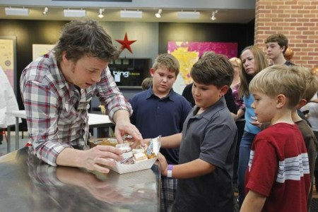Jamie Oliver visits LA for his next chapter of Jamie Oliver's Food Revolution