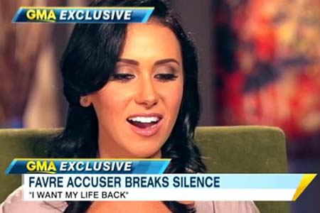 Jenn Sterger on the Brett Favre sexting scandal
