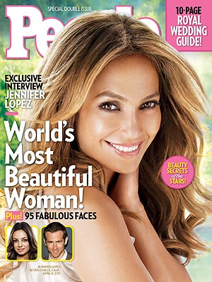 Jennifer Lopez with glowing skin on People Magazine cover