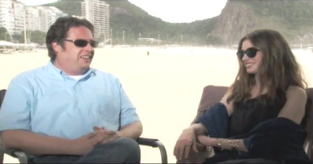 SheKnows visits with Anne Hathaway in Rio