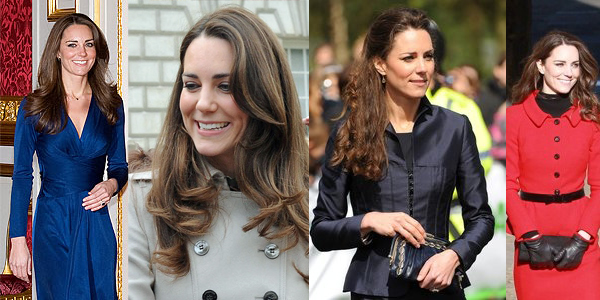 Kate Middleton's long brunette royal wedding hairstyle