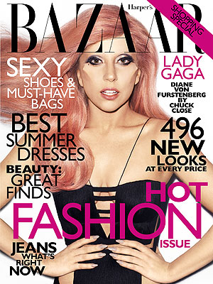 Lady Gaga on the Harpar's Bazaar May issue