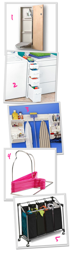 Simple laundry storage solutions