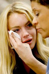 Lindsay Lohan is not happy