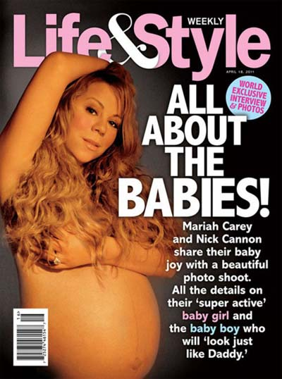Mariah Carey naked in Life & Style