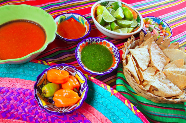 Mexican table spread