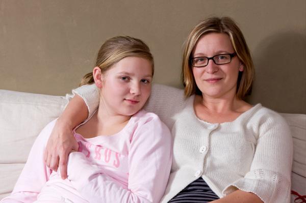 Mom and tween daughter