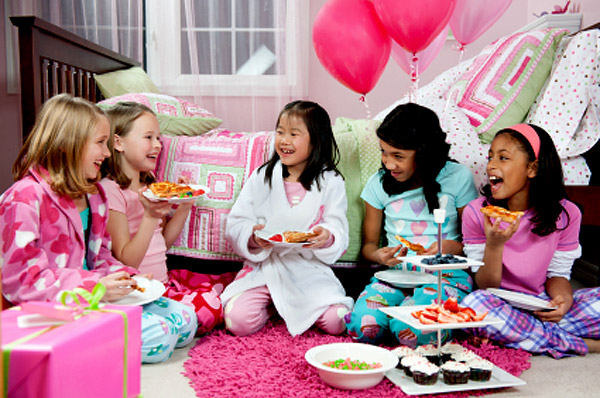 Birthday slumber party girls
