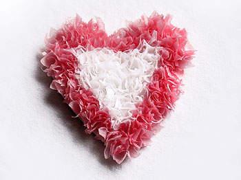 tissue paper heart