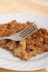 Pear apple crumble