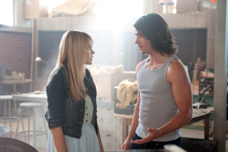 Aimee Teegarden and Thomas McDonell in Prom